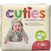 Cuties Premium Jumbo Diapers, Size 3, 144/PK (CR3001)