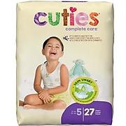 Cuties Premium Jumbo Diapers, Size 5, 108/PK (CR5001)
