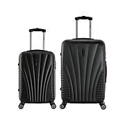 InUSA Chicago 2-Piece Plastic Luggage Set, Black (IUCHI0SM-BLK)