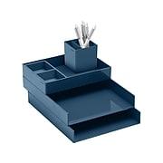 Poppin Super Stacked Set, Slate Blue Assorted Material, 6/Bundle (106079)