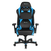 Clutch Chairz Throttle Series Alpha, Professional Grade Gaming & Computer Chair in Black and Blue (THA99BBL)