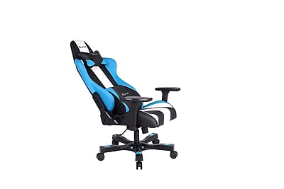 Clutch Chairz Crank Series Bravo, Professional Grade Gaming & Computer Chair in Black , Blue and White (CKB11BLBW)