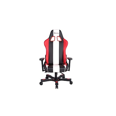 Clutch Chairz Crank Series Bravo, Professional Grade Gaming & Computer Chair in Black ,Red and White (CKB11RWB)
