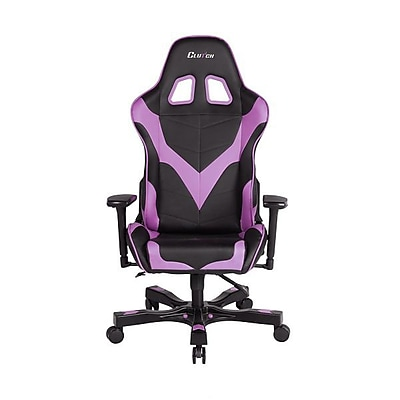Clutch Chairz Crank Series Echo, Professional Grade Gaming & Computer Chair in Black and Purple (CKE11BPL)
