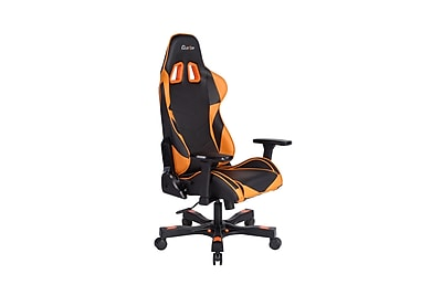 Clutch Chairz Crank Series Charlie, Professional Grade Gaming & Computer Chair in Black and Orange (CKC11BO)