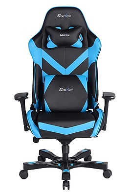 Clutch Chairz Throttle Series Charlie, Professional Grade Gaming & Computer Chair in Black and Blue (THC99BBL)