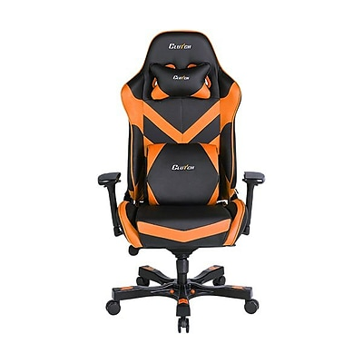 Clutch Chairz Throttle Series Charlie, Professional Grade Gaming & Computer Chair in Black and Orange (THC99BO)