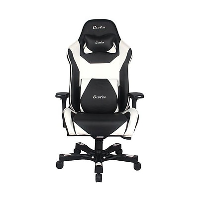 Clutch Chairz Throttle Series Bravo, Professional Grade Gaming & Computer Chair in Black and White (THB99BW)