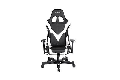 Clutch Chairz Crank Series Echo, Professional Grade Gaming & Computer Chair in Black and White (CKE11BW)