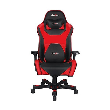 Clutch Chairz Throttle Series Bravo, Professional Grade Gaming & Computer Chair in Black and Red (THB99BR)