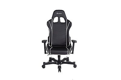 Clutch Chairz Crank Series Delta, Professional Grade Gaming & Computer Chair in Black and White (CKD11BW)