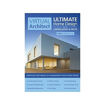 Avanquest Virtual Architect Ultimate Home Design with Landscaping and Decks 10 for Windows, 1 User, Download