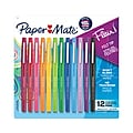 Paper Mate Flair Felt Pens, Medium Point, Assorted Color Ink, 12/Pack (74423)