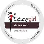 Skinnygirl Coffee Americano, Single Serve Cup Portion Pack for Keurig K-Cup Brewers, 24 Count (SNSG5132)