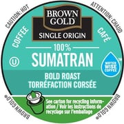 Brown Gold Coffee 100% Sumatran, RealCup portion pack for Keurig K-Cup Brewers, 24 Count (4330058)