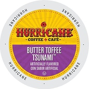 Hurricane Coffee And Tea Butter Toffee Tsunami, Single Serve Cups for Keurig K-Cup Brewers, 24 Count (SNHU5236)