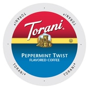 Torani Coffee Peppermint Twist Flavored Coffee, Single Serve Cup Portion Pack for Keurig K-Cup Brewers, 96 Count (SNTR5246)