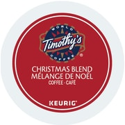 Timothy's Christmas Blend, K-Cup Portion Pack For Keurig Brewers, 24 Count (11TM109-CHRISTMA24'S)