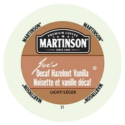 Martinson Coffee Joe's Hazelnut Vanilla Decaf, RealCup portion pack for Keurig K-Cup Brewers, 96 Count (4320210)
