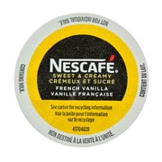 Nescafe Sweet & Creamy French Vanilla, RealCup Portion Pack for Keurig Brewers, 12 Count (12280921)