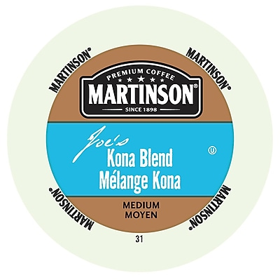 Martinson Coffee Joe's Kona Blend, RealCup portion pack for Keurig K-Cup Brewers, 192 Count (4320214)