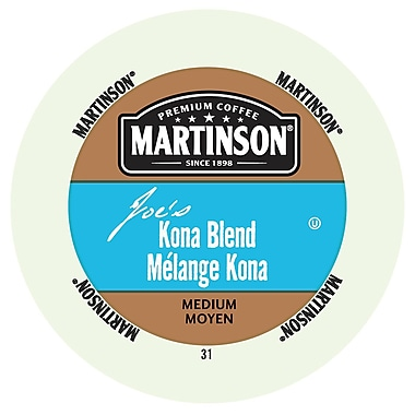 Martinson Coffee Joe's Kona Blend, RealCup portion pack for Keurig K-Cup Brewers, 24 Count (4320214)