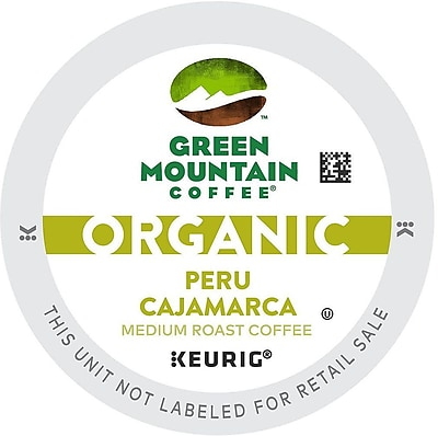 Green Mountain Coffee Organic Peru Cajamarca, K-Cup Portion Pack For Keurig Brewers, 96 Count (11GR156-PERU24CT)
