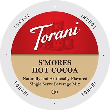 Torani Indulgent Beverages S'Mores Hot Chocolate, Single Serve Cup Portion Pack for Keurig K-Cup Brewers, 96 Count (SNTR5535)