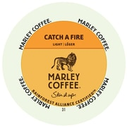Marley Coffee Catch A Fire, RealCup portion pack for Keurig K-Cup Brewers, 48 Count (4689861)