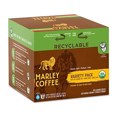 Marley Coffee Marley Mixer - Organic, RealCup portion pack for Keurig K-Cup Brewers, 144 Count (4690005)