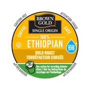 Brown Gold Coffee 100% Ethiopian, RealCup portion pack for Keurig K-Cup Brewers, 48 Count (4330031)