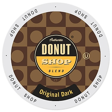 Authentic Donut Shop Original Dark, Single Serve Cup Portion Pack for Keurig K-Cup Brewers, 192 Count (SNDO2105)