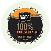 Brown Gold Coffee 100% Colombian, RealCup portion pack for Keurig K-Cup Brewers, 48 Count (4330030)