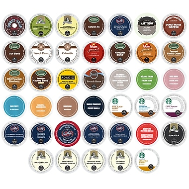 K-Cup Coffee Variety Selection Pack, Massive Brands and Huge Discounts to Kick Start Your Day, 40 Count, 40 Count (CE1003167)
