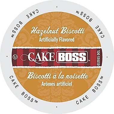 Cake Boss Coffee Hazelnut Biscotti, Single Serve Cup Portion Pack for Keurig K-Cup Brewers, 48 Count (SNCB5244)