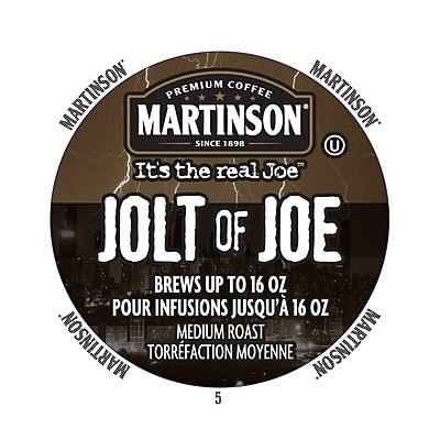 Martinson Coffee Jolt Of Joe, RealCup portion pack for Keurig K-Cup Brewers, 24 Count (4320029) 24117219