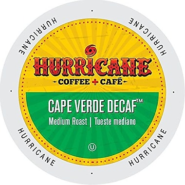 Hurricane Coffee And Tea Cape Verde Decaf, Single Serve Cup Portion Pack for K-Cup Brewers, 24 Count (SNHU5342)