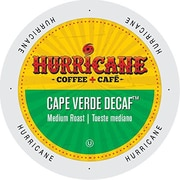 Hurricane Coffee And Tea Cape Verde Decaf, Single Serve Cup Portion Pack for K-Cup Brewers, 48 Count (SNHU5342)