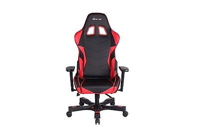 Clutch Chairz Crank Series Charlie, Professional Grade Gaming & Computer Chair in Black and Red (CKC11BR)