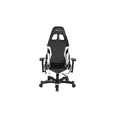 Clutch Chairz Crank Series Charlie, Professional Grade Gaming & Computer Chair in Black and White (CKC11BW)