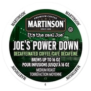 Martinson Coffee Power Down Decaf, RealCup portion pack for Keurig K-Cup Brewers, 24 Count (4320028)