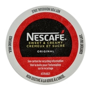 Nescafe Sweet & Creamy Original Coffee, RealCup Portion Pack for Keurig Brewers, 24 Count (12280889)