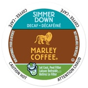 Marley Coffee Simmer Down Decaf, RealCup portion pack for Keurig K-Cup Brewers, 24 Count (4689868)