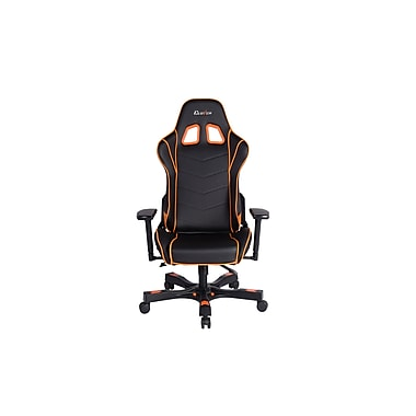 Clutch Chairz Crank Series Delta, Professional Grade Gaming & Computer Chair in Black and Orange (CKD11BO)