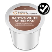 Barnie's Coffee Kitchen Santa's White Christmas, Single Serve Cup Portion Pack for Keurig K-Cup Brewers, 24 Count (SNBA328153)