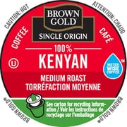 Brown Gold Coffee 100% Kenyan, RealCup portion pack for Keurig K-Cup Brewers, 24 Count (4330059)