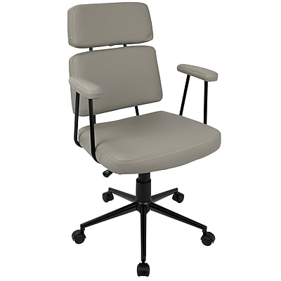 Lumisource Sigmund Contemporary Adjustable Office Chair in Grey (OFC-AC-SIGMD GY)