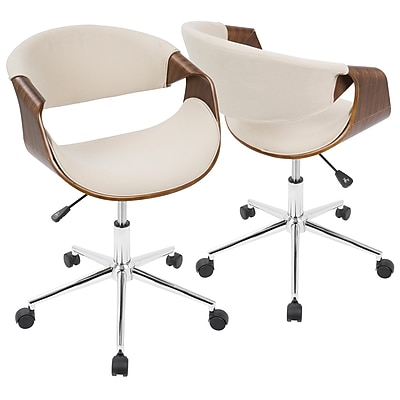 Lumisource Curvo Mid-Century Modern Office Chair in Walnut u0026 Teal (OFC-CURVO WL+TL) | Staples  sc 1 st  Staples & Lumisource Curvo Mid-Century Modern Office Chair in Walnut u0026 Teal ...