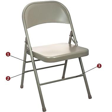 Advantage Beige Metal Folding Chair (EDPI903MBEIGE80)