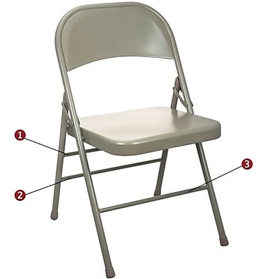 Advantage Beige Metal Folding Chair (EDPI903MBEIGE80)